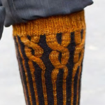 Twelfth Night Yellow Gartered Dude Socks